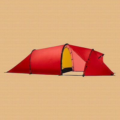 New with Tags! Hilleberg Nallo 3 GT 3-Person Tent w/ Extended Vestibule - Red