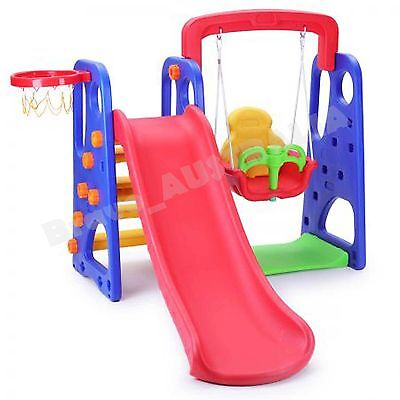 Childrens Swing and Slide Basketball Activity Center NON Toxic
