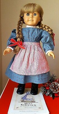 American Girl  Kirsten 10 Pc. Partial MEET OUTFIT ONLY ~ RETIRED ~ Boots RARE