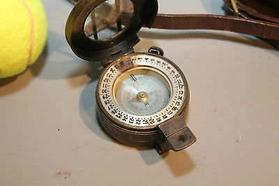 Vintage Military Issue Enbecco Compass in Original Leather Case