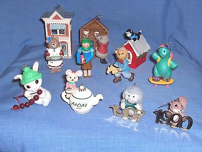 #1417 - Lot Of 11 Hallmark Keepsake Ornaments - Various, Animals, Son, Mother