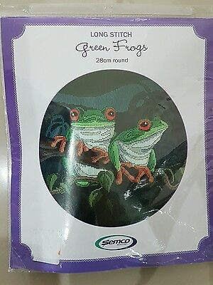 Tapestry Green Frog Long Stitch kit