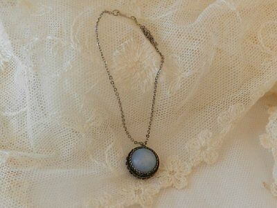 Blue Moon Stone Necklace  ~Antique Doll Jewelry Jumeau Bru, French, Dolls