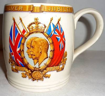 Johnson Bros King George V Silver Jubilee Mug Collectable/Decorative/Royalty