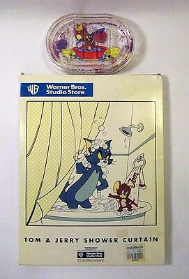 Tom and Jerry new shower curtain and soap dish from 1997