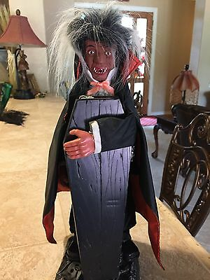 Vintage Motion Activated Talking Halloween Vampire Dracula
