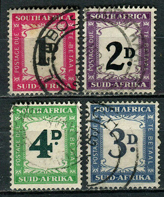 South Africa 1950 hyphenated postage dues used (4)