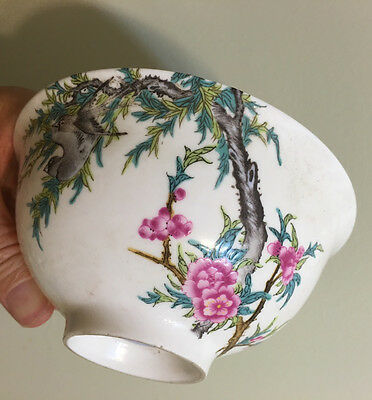Antique Chinese Large Famille Rose Covered Bowl, 18th C, Qianlong period