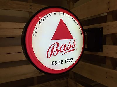 "Bass Pale Ale Pub Sign, 18.5"" Beer Bar Light, Double sided, Anheuser Bush"