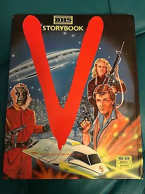 V Visitor Scifi TV Storybook1984 BHS space ship mike donovan Story Book WB