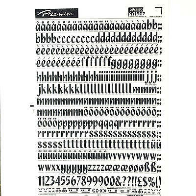 NEW & UNUSED LETRASET INSTANT RUB ON TRANSFER LETTERS 72pt Quixley 18mm
