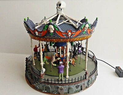 Lemax Spooky Town Scary-Go-Round Carousel Animated Lighted Sound