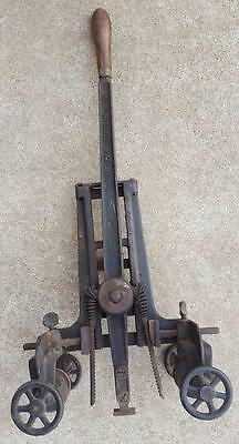 1905 Antique A W Miller MORTISE JOINT Machine Cast Iron Extra Blade TOO COOL