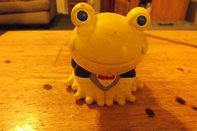 small  yellow  frog  with  tux  &  tie