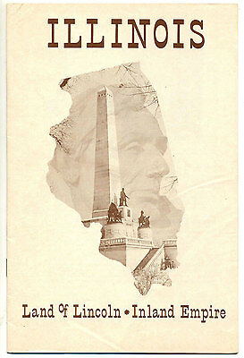 Vintage 1965 Tourism Booklet: ILLINOIS Land of Lincoln - Inland Empire