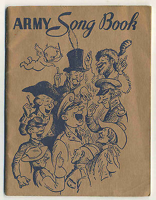 Vintage 1941 Booklet ARMY SONG BOOK - U.S. Government First Printing