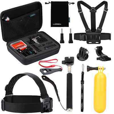 Luxebell Value Pack Accessories Kit for Gopro Hero 5 4 3+ 3 2 1, Action camera S