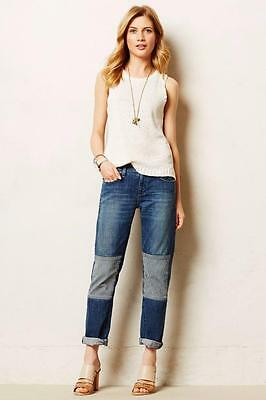 PILCRO Anthropologie HYPHEN PATCHED JEANS 27