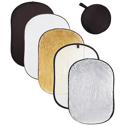 """Photography 40x60"""" 5in1 Light Collapsible Portable Photo Reflector 110x150cm"""