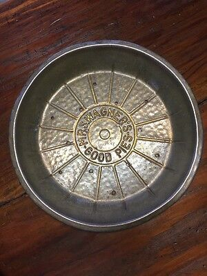 """Vintage Antique Tin Pie Pan Mrs. Wagner's Good Pies 9"""" Vented"""