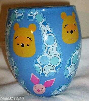 Disney WINNIE The POOH & PIGLET Glass Glow CANDLE Holder Floral Scented New
