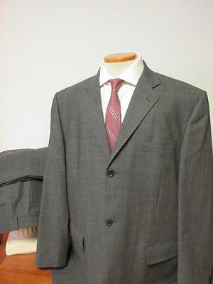 Dolce & Gabbana Made In Italy Wool 2 Btn Suit 48L 40X31 Dark Gray Plaid