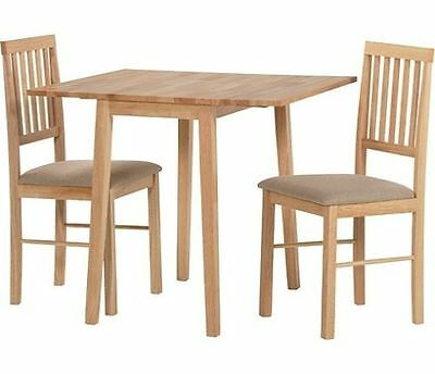 HOME Raye Solid Wood Dining Table and 4 Chairs - Natural (read description )