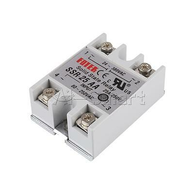 New 24V-380V 25A SSR-25AA Solid State Relay Module 80-250VAC AC-AC