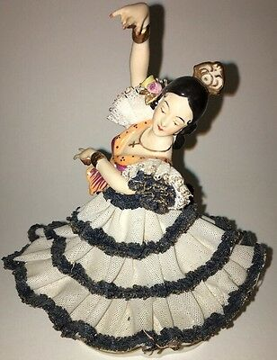 ALKA Dresden Dec. CARMEN Lady  Flamenco Dancer Figurine 8 1/4 Made In Germany