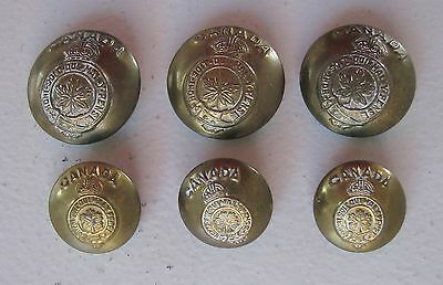 Canadian WW2 WW II Military Buttons –Honi soit qui mal y pense– Made in Canada