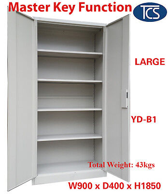 Tcs New Metal Steel Locker Stationery Cabinet File Cupboard Yd-B1