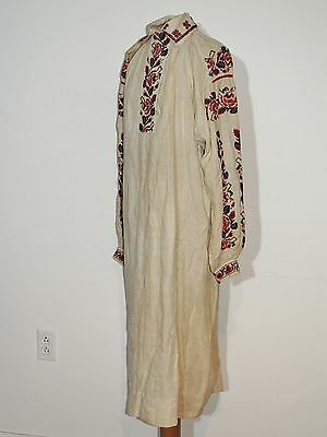 Antique Hand Embroidered Ukrainian / Ukraine Dress MED