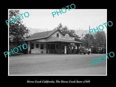 OLD LARGE HISTORIC PHOTO OF HORSE CREEK CALIFORNIA, THE HORSE CREEK STORE c1949