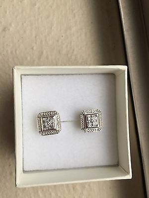 NEW Kay Jewelers Earrings Real Silver and Diamonds!!