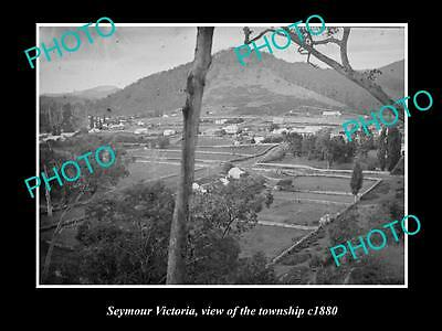 OLD LARGE HISTORICAL PHOTO OF SEYMOUR VICTORIA, VIEW OF THE TOWNSHIP c1880