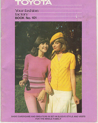 vintage TOYOTA KNITTING MACHINE BOOK Your Fashion Factory Book No 101 CARDIGANS