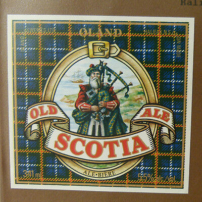 Vintage Canadian Beer Label - Oland Brewery, Old Scotia Ale 341 Ml