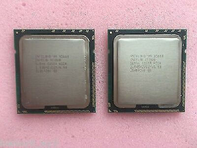 MATCHED PAIR INTEL XEON X5660 2.8GHz HEX CORE CPU  LGA 1366 SLBV6 DELL HP IBM