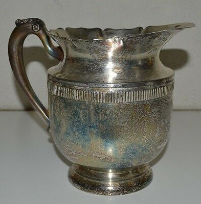 Antique Federal Silver Company Silverplated Pitcher Old Water Tea Large Jug RARE
