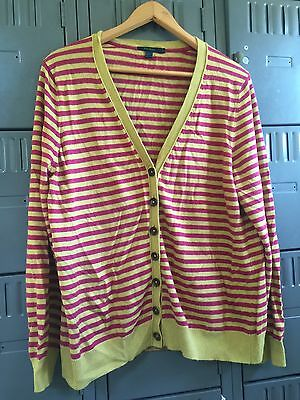 Boden Cardigan Size 20 Striped Excellent Condition
