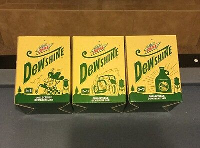 New in box set of MOUNTAIN DEW DEWSHINE JARS 1, 2 & 3 From Circle K