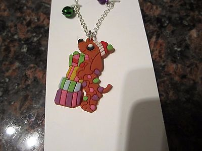 Dachshund Dog Holiday Christmas Presents Necklace NEW in Package JUSTICE