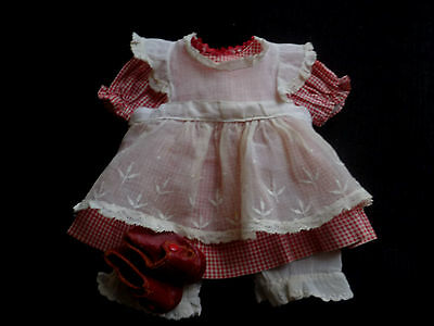 "Original Tagged Alexander Ana McGuffey 13"" Composition Doll Dress w/Shoes"