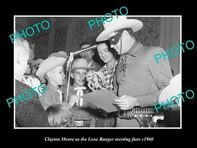 OLD LARGE HISTORIC PHOTO OF AUSTIN TEXAS, CLAYTON MOORE THE LONE RANGER c1960 2