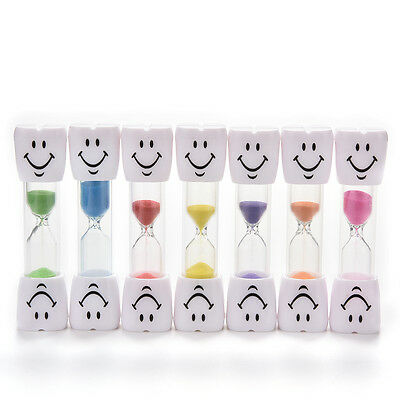 Multicolor 2-3 Minute Hourglass Kids Toothbrush Timer Smiley Sand Egg Timers GRU