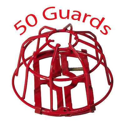 Fire Sprinkler Head Guard:  Red Two Piece: 50 of $2.10/ea