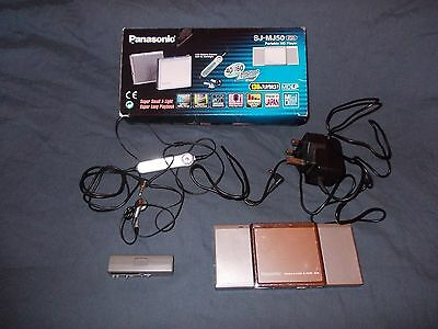 Rare Panasonic Sj-Mj50 Minidisc Player With Attached Stereo Speakers