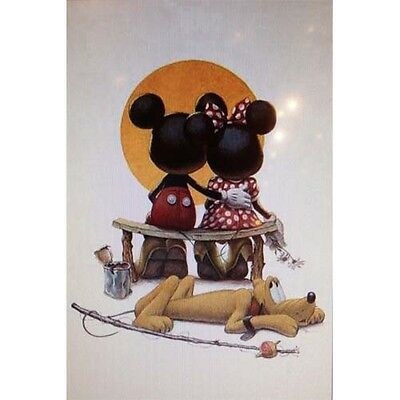 Disney Mickey and Minnie Mouse Puppy Love Art Print 24 x 36 Inches