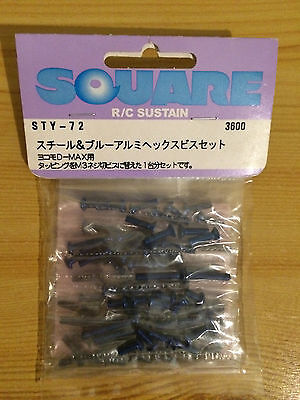 Yokomo Dmax Square Sty-72  Aluminium And Steel Screw Set - Rare