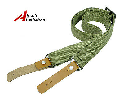 Tactical Hunting Adjustable Two 2 Point Rifle Gun Sling Strap Lanyard Olive Drab